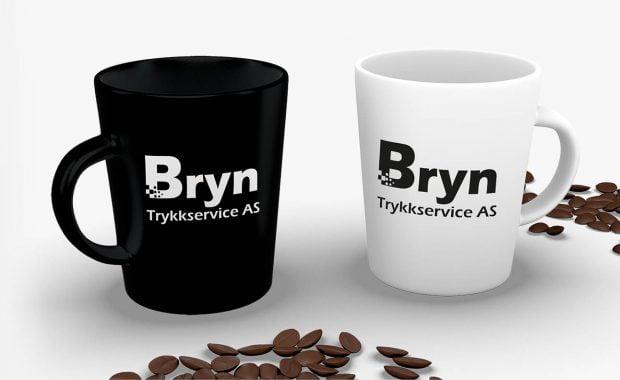 Kopp med Bryn Trykkservice logo